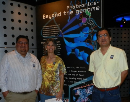 With Susie and Sergio at the GENOME exhibit