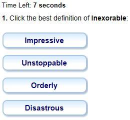 definition_INEXORABLE