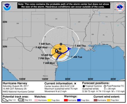 HurricaneHarvey_5day_cone